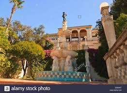 Mediterranean Style Mansion Hearst Castle A Mediterranean Style Mansion Atop A Hill Near San