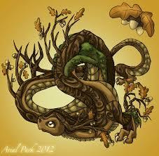Oak Tree Drawing November Dragon Oak Tree By Jeweledphoenix On Deviantart