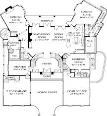 floor plans with in suite amusing single level house plans with two master suites images