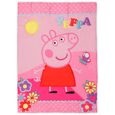 Peppa Pig Toddler Duvet Cover Nickelodeon Peppa Pig Toddler Bedding Set With Bonus Blanket