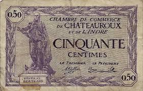 chambre de commerce chateauroux 36 chateauroux chambre de commerce 50 centimes 11 08 1920