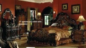 cheap king size bedroom furniture sets bedroom furniture sets king arbor ridge cherry 7 king poster bedroom