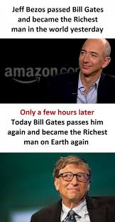 Bill Gates Meme - dopl3r com memes jeff bezos passed bill gates and became the