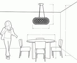 size of chandelier for dining room the correct height to hang your