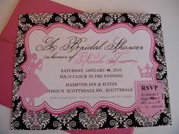 cheap bridal shower invitations pink and black wedding shower invitations the wedding