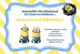 birthday invites inspiring minion birthday party invitations