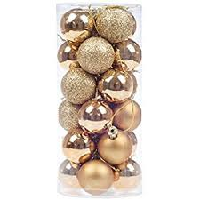 30 gold shatter proof tree baubles co uk