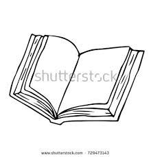 vector sketch open book empty pages stock vector 264511394