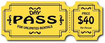 day pass cheap rentals