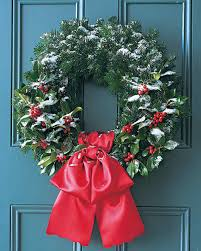 silver fir and holly wreath martha stewart