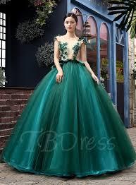 tb dress tbdress bateau neck a line flowers beadings quinceanera dress