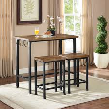 metal bar table set essential home 3 pc metal and wood pub set new table chairs for 13