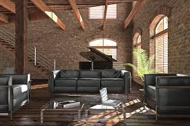 extraordinary of modern industrial loft living room with black