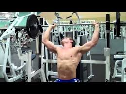 Seated Bench Press How To Seated Barbell Shoulder Press Youtube