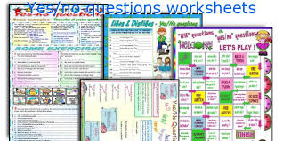english teaching worksheets yes no questions