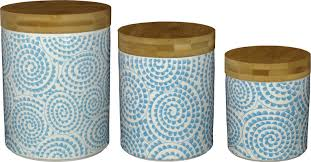 decorative kitchen canisters birch wilshire 3 kitchen canister set reviews wayfair