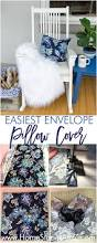 Cushion Covers Without Zips Easiest One Piece Fabric Envelope Pillow Cover Tutorial