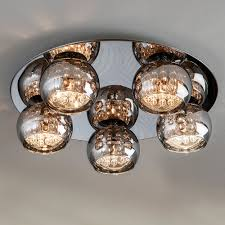 Glass Ceiling Lights Designer Smoked Glass Round Ceiling Light Juliettes Interiors
