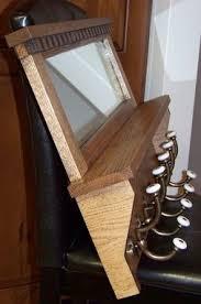 custom made oak coat rack with mirror by palmer union design