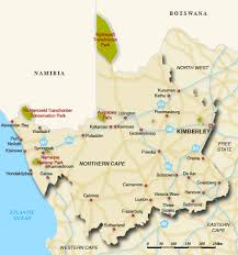 northern map map of northern cape northern cape map south africa