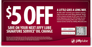 pinned march 10th 5 off an oil change at jiffy lube coupon via