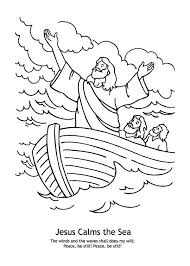 good jesus calms storm coloring 96 free colouring