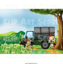 safari truck clipart royalty free little stock scout designs page 2