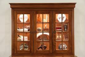 sold nichols and stone signed maple 1999 lighted china cabinet