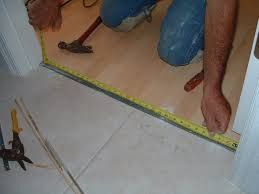 cutting laminate flooring trim installing the transition