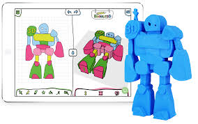 3d design for everybody with doodle3d transform a 3d model of a robot created with doodle3d
