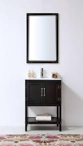 24 Bathroom Vanity Abel 24 Inch Matte Black Finish Bathroom Vanity