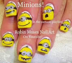 easy diy minion nail art design tutorial with google eyes youtube