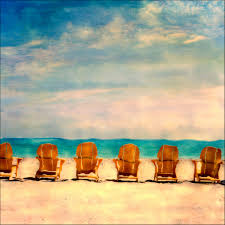 Chairs On A Beach Polaroid Beaches Lifeguard Stands Seascapes Fine Art Photography