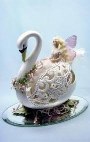 decorated goose eggs wings of lace a goose egg turned into a beautiful swan wings are