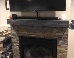 Rugged Home Decor Rugged Gray Satin Wooden Mantelhollow Fireplace Mantel