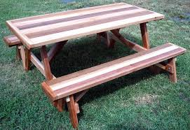 picnic table plans detached benches picnic table plans detached benches round wood picnic tables with