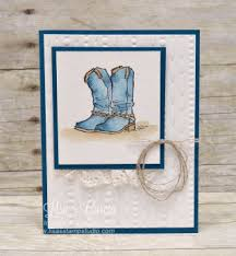country livin rhinestone boots stin up card paper craft