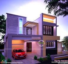 apartments captivating beautiful modern house night view kerala