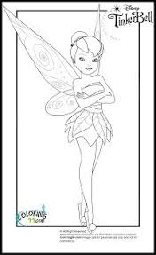 tinker bell color pages printable tinkerbell coloring pages