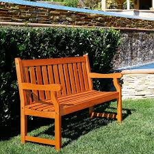 Eucalyptus Bench - henley 2 seater eucalyptus wood outdoor bench free shipping
