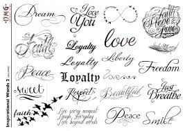 inspirational word tattoos
