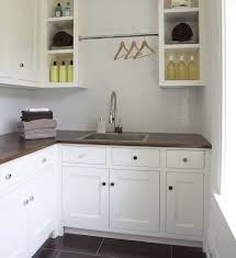 Laundry Room With Stainless Steel Utility Sink Transitional - Utility sink backsplash
