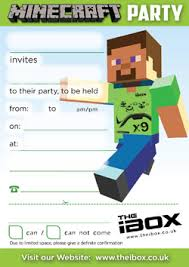 minecraft party invitations minecraft party invitations by means