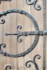 ornamental wrought iron door hardware stock photo image of heavy