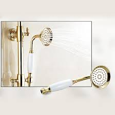 Exposed Outdoor Shower Fixtures - gold polished brass thermostatic exposed outdoor shower faucet sets