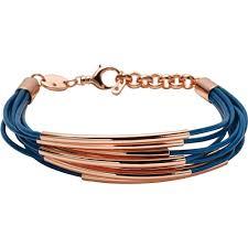 bracelet ladies images Fossil ladies blue rose gold multi strand bracelet jewellery jpg