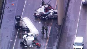 Wsdot Seattle Traffic Flow Map by Rolled Over Tanker Truck Closes I 5 I 90 Near Downtown Seattle