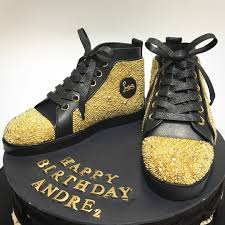 a pair of christian louboutin shoe cake for andre and yes the