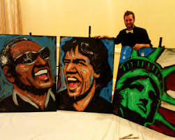 corporate entertainment speed painting in orlando florida tim
