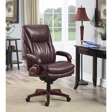 brown leather executive desk chair la z boy edmonton coffee brown bonded leather executive office chair